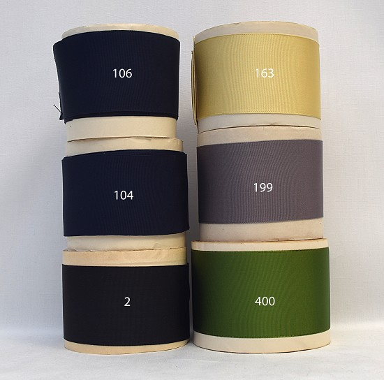 2-1/4 (57mm) Blue Black Gray Green Yellow Rayon Woven Edge Grosgrain Ribbon