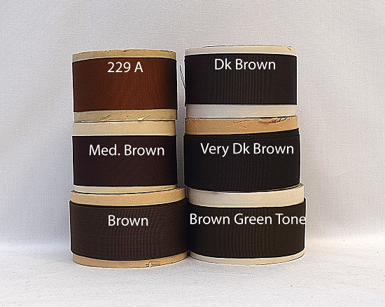1-1/2 (38mm) Brown Rayon Finished or Woven Edge Grosgrain Ribbon A