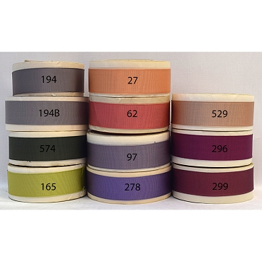 1 inch (25mm) Acetate Woven Edge Grosgrain Ribbon