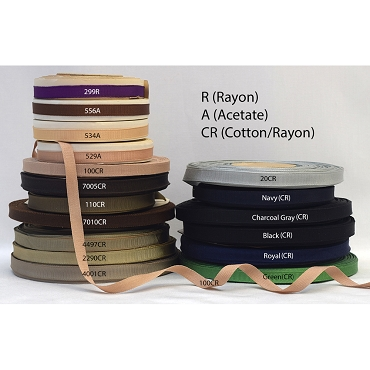 3/8 (10mm) Woven Edge Grosgrain Ribbon