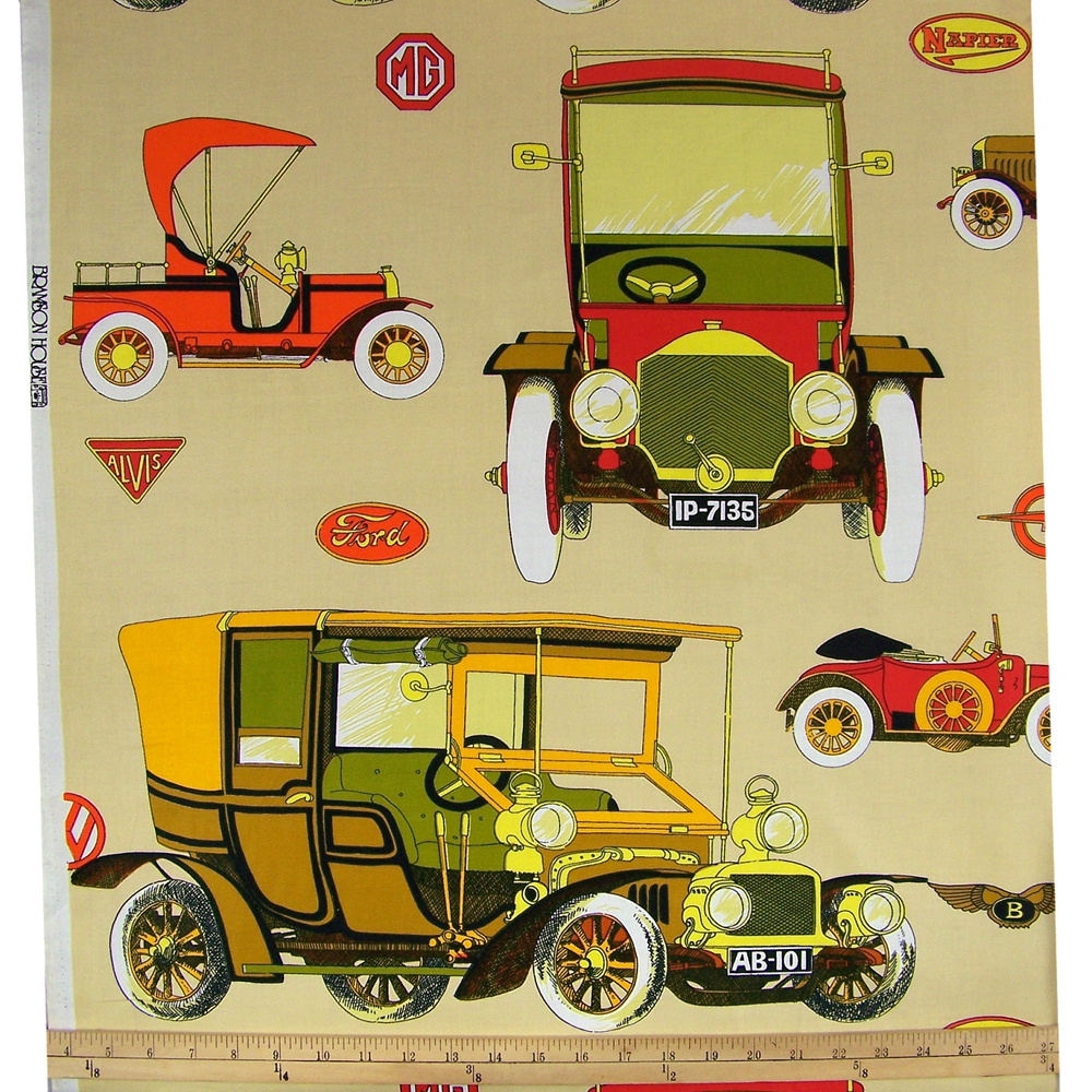 Vintage Antique Car Fabric