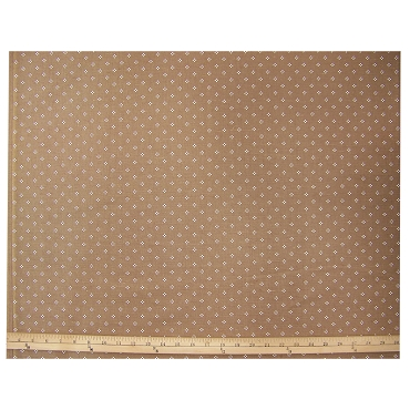 Vintage Dots on Golden Brown Cotton Fabric