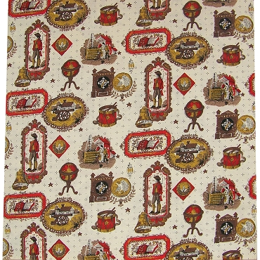 Vintage Americana and Colonial Life Fabric