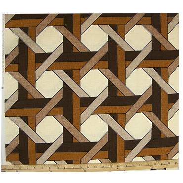 Vintage House and Home Geometric Fabric