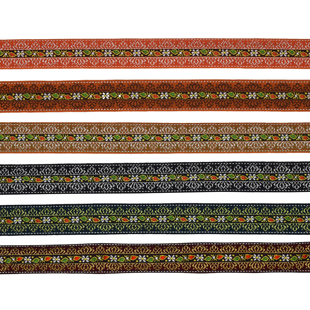 3/4 (19mm) French Floral Jacquard Ribbon 2157