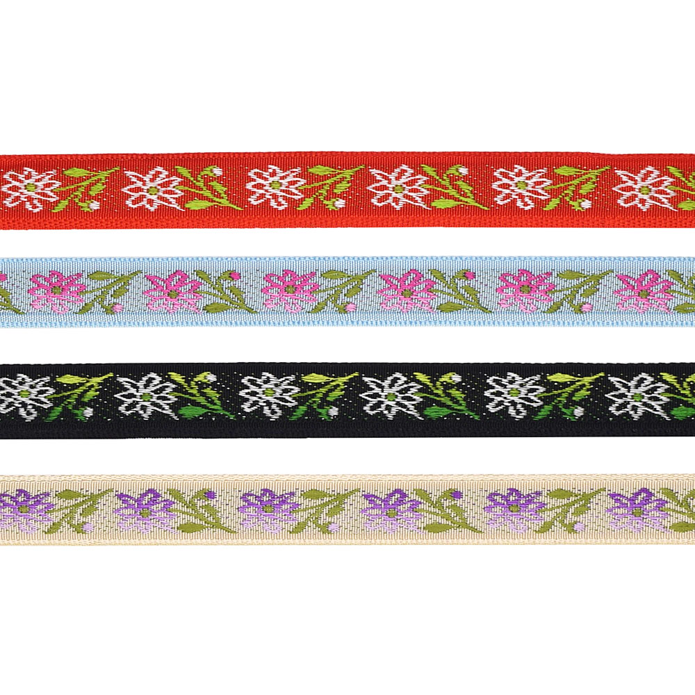 1/2 (13 mm) Floral Jacquard Ribbon 3225