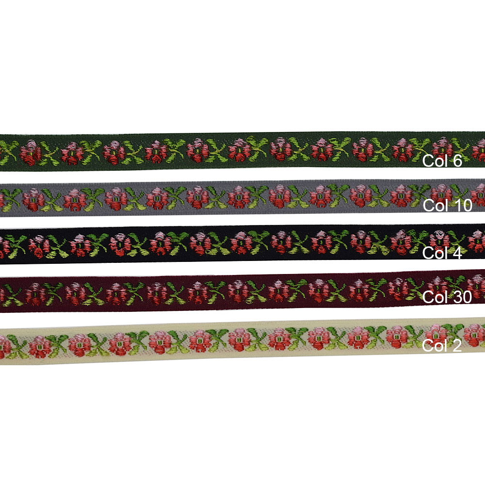 1/2 (13 mm) Floral Stretch Jacquard Ribbon 3706