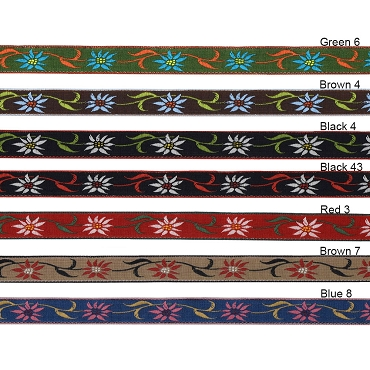 3/8 (10mm) French Edelweiss Floral Jacquard Trim 3097