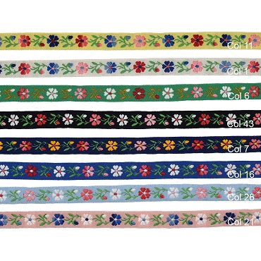 1/2 (13 mm) Floral Jacquard Ribbon 3036