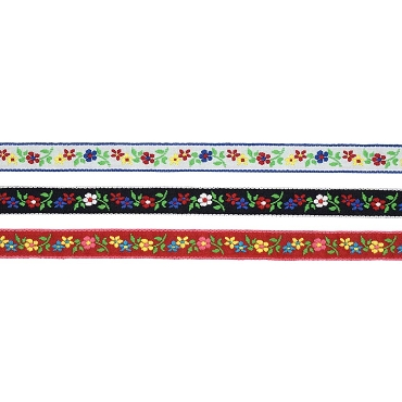 1/2 (13 mm) Floral Jacquard Ribbon 3062