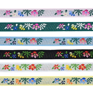 1/2 (13 mm) Floral Jacquard Ribbon 3218