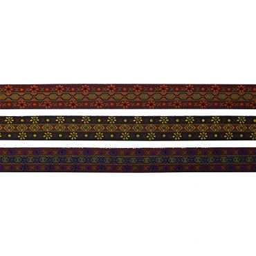 3/4 (19mm) French Floral Jacquard Ribbon 322