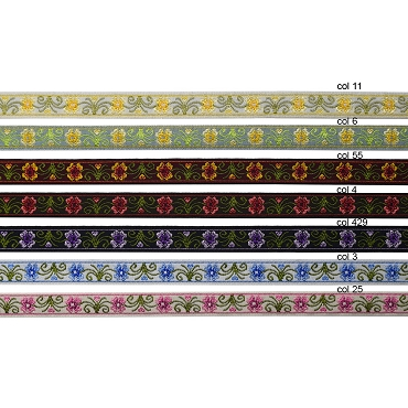 1/2 (13 mm) Floral Jacquard Ribbon 3270