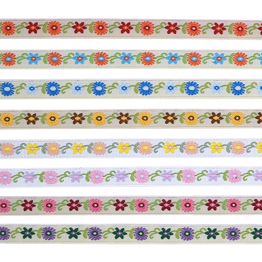 3/8 (10mm) Floral Jacquard Ribbon 3271