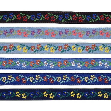7/8 (22mm) Floral Jacquard Ribbon 3855