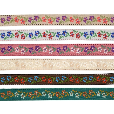 7/8 (22mm) Floral Jacquard Ribbon 3855A