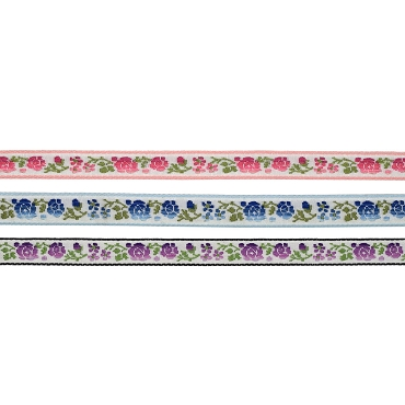 1/2 (13 mm) Flower Jacquard Ribbon 3906