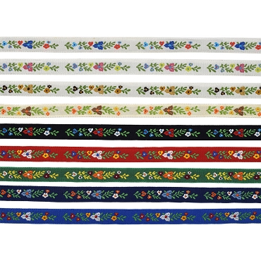 1/2 (13 mm) Floral Jacquard Ribbon 3038