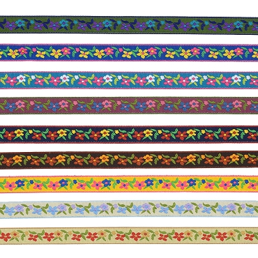 3/8 (13mm) Floral Jacquard Trim 3040