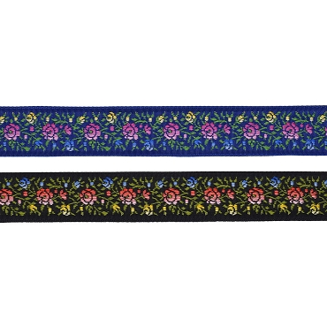 7/8 (22mm) Swiss Floral Jacquard Ribbon 3049