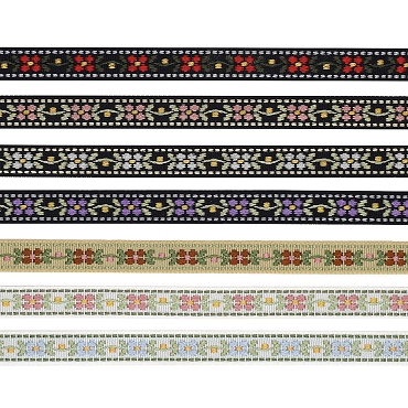 1/2 (13mm) Floral Jacquard Ribbon 3093