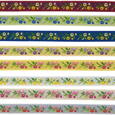 1/2 (13mm) Floral Jacquard Ribbon 3217