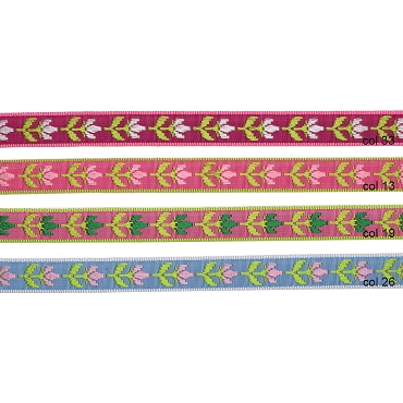 1/2 (13 mm) Flower Jacquard Ribbon 3224