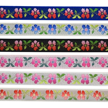 7/8 (22mm) Swiss Floral Jacquard Ribbon 3240