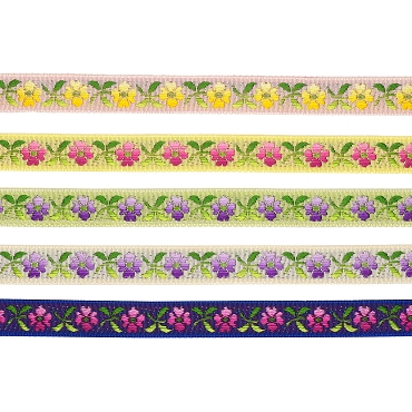 1/2 (13 mm) Floral Jacquard Ribbon 3244