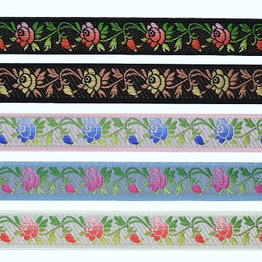 7/8 (22mm) Swiss Floral Jacquard Ribbon 3252