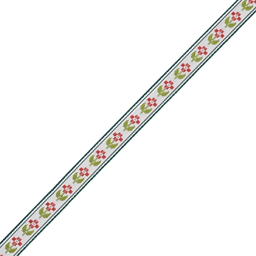 3/8 (10mm) Floral Jacquard Ribbon 3283