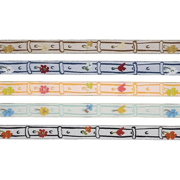 3/8 (10mm) Floral Jacquard Ribbon 3289