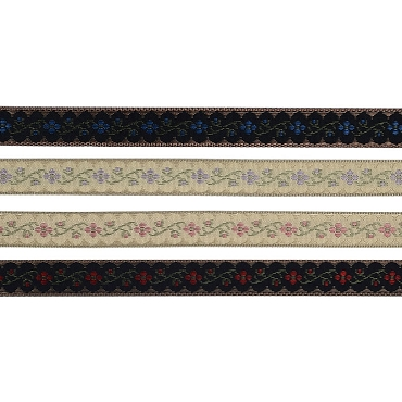 9/16 (14mm) Flower Jacquard Ribbon 3660