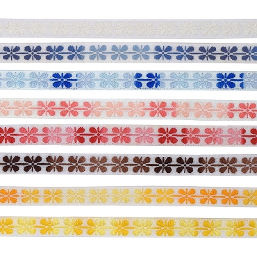 3/8 (10mm) Floral Jacquard Trim 3140