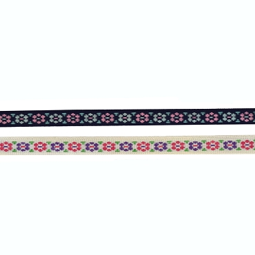 3/8 (10mm) Floral Jacquard Ribbon 3201