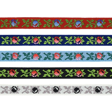 1/2 (13 mm) Floral Jacquard Ribbon 3238
