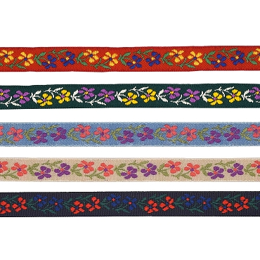 3/8 (10mm) Floral Jacquard Ribbon 3426