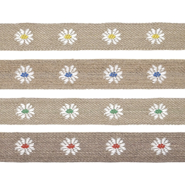 7/8 (22mm) Linen Floral Jacquard Ribbon 3327