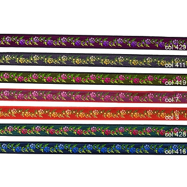 1/2 (13 mm) Floral Jacquard Ribbon 3205