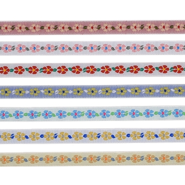 3/8 (10mm) Floral Jacquard Ribbon 921