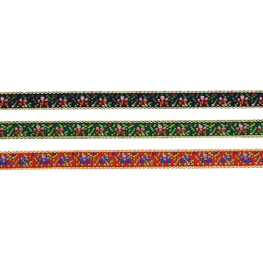 3/8 (13mm)  Swiss Metallic Novelty Jacquard Trim 3055