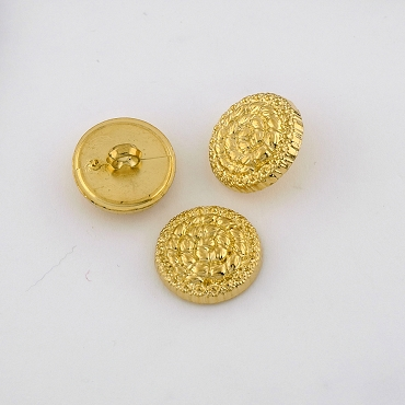 28L (18mm) Round Gold Metal Button