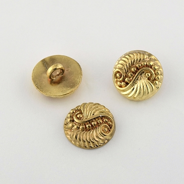 28L (18mm) Round 2-Tone Gold Metal Button