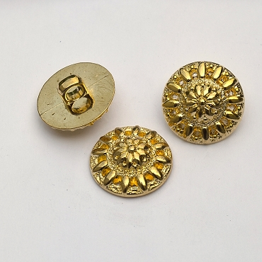 36L (23mm) Center Dome Gold Metal Button