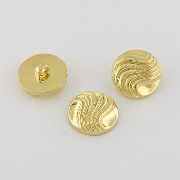 36L (23mm) Wave Gold Metal Button