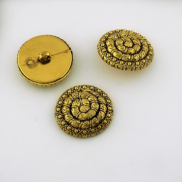 40L (25.5mm) Swirl Gold Metal Button