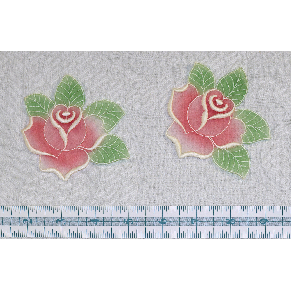 Vintage Swiss Organza Rose Applique (2)
