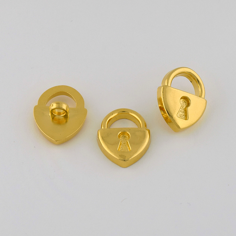 36L (22mm) Novelty Gold Metal Button