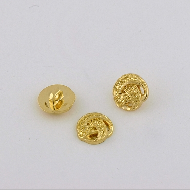 24L & 40L Gold Metal Button