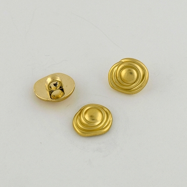 28L (18mm) Flower Novelty Gold Metal Button